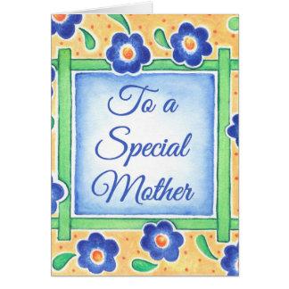 Madre especial tarjeta de felicitación