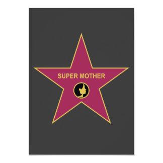 Madre estupenda - estrella de la madre de invitación 12,7 x 17,8 cm