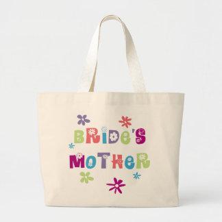 Madre feliz de la novia bolsa tela grande