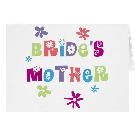 Madre feliz de la novia tarjetas
