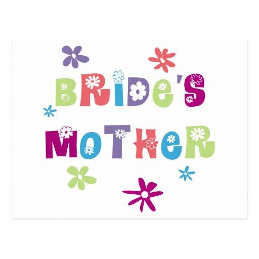 Madre feliz de la novia tarjetas postales