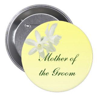 Madre floral amarilla del boda del Pin del novio Pin Redondo 7 Cm