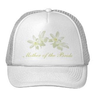 Madre floral amarilla del gorra de la novia
