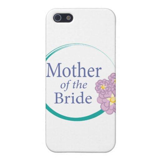 Madre floral del círculo completo de la novia iPhone 5 protectores