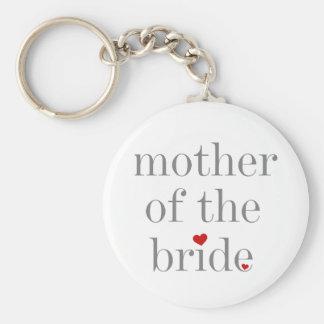 Madre gris del texto de la novia llavero redondo tipo pin