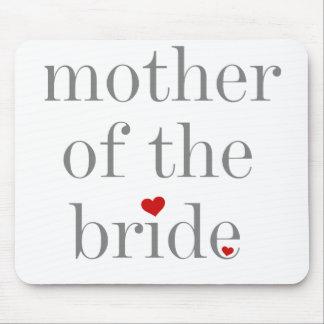 Madre gris del texto de la novia tapete de raton