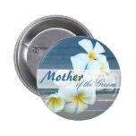 Madre hawaiana de las flores del botón redondo del pins