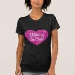 Madre hawaiana del corazón de la novia camiseta