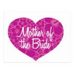 Madre hawaiana del corazón de la novia tarjeta postal