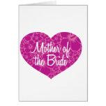 Madre hawaiana del corazón de la novia tarjetas