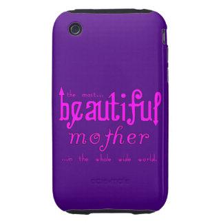 Madre hermosa de las fiestas de cumpleaños de las  iPhone 3 tough protector