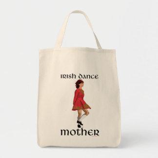 Madre irlandesa de la danza del paso - rojo bolsa