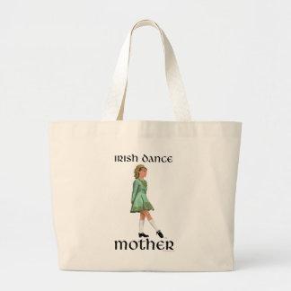Madre irlandesa de la danza del paso - verde bolsas lienzo