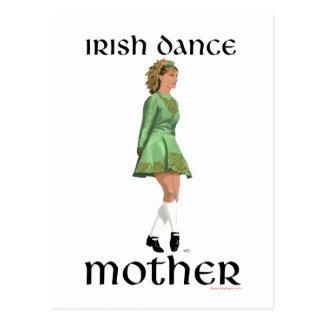 Madre irlandesa de la danza del paso - verde tarjetas postales