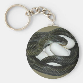 ¡Madre japonesa de la serpiente de rata, hermosa y Llavero Redondo Tipo Pin