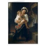 Madre joven que mira en su niño - Bouguereau Felicitaciones