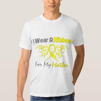 Madre - llevo una ayuda amarilla de los militares camisas