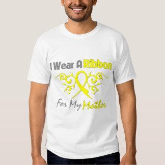 Madre - llevo una ayuda amarilla de los militares remera