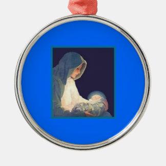 Madre Maria con el ornamento del árbol del día de Ornamente De Reyes