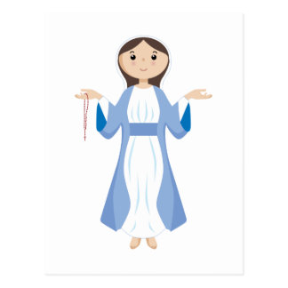 Madre Maria con el rosario Postal