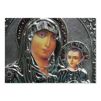 """Madre Maria e invitaciones de Jesús del bebé Invitación 5"""" X 7"""""""