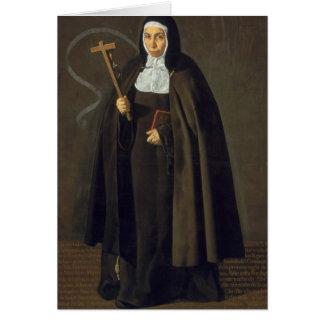 Madre Maria Jeronima de la Fuente, 1620 Greeting Card