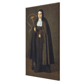 Madre Maria Jeronima de la Fuente, 1620 Lona Envuelta Para Galerias