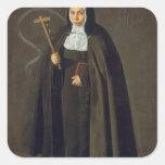 Madre Maria Jeronima de la Fuente, 1620 Square Sticker