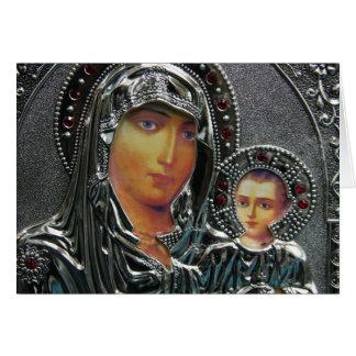 Madre Maria y bebé Jesús Tarjeta De Felicitación