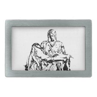 Madre Maria y Jesús de la Virgen Hebillas Cinturón Rectangulares