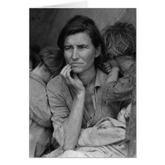 Madre migratoria Florencia Thompson de Dorothea La Tarjeta De Felicitación
