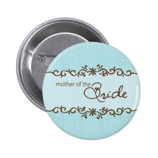 Madre moderna de la elegancia del botón de la novi pin