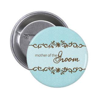 Madre moderna de la elegancia del botón del novio