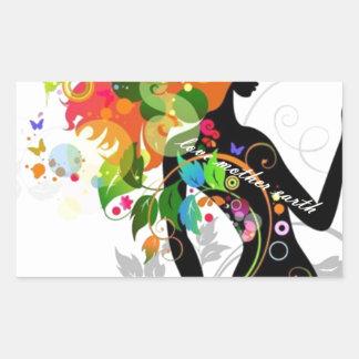 madre natura.jpg rectangular sticker