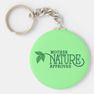 Madre naturaleza aprobada llavero personalizado