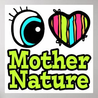 Madre naturaleza brillante del amor del corazón I  Poster