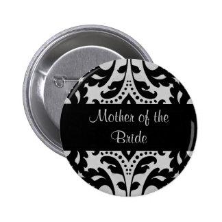 Madre negra y gris del damasco del victorian de la pin