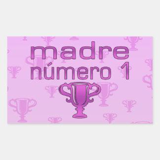 Madre Número 1 Rectangular Sticker