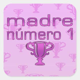 Madre Número 1 Square Sticker