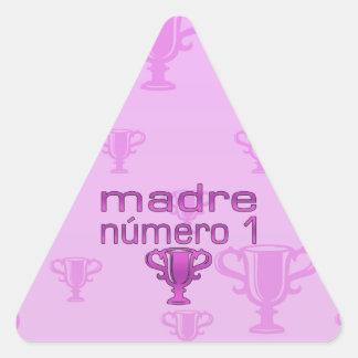 Madre Número 1 Triangle Sticker