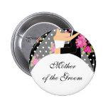 Madre nupcial del fiesta del botón/Pin de la novia