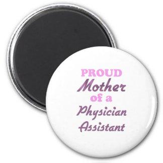 Madre orgullosa de un ayudante del médico imán redondo 5 cm