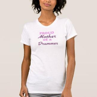 Madre orgullosa de un batería camisetas