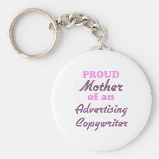 Madre orgullosa de un Copywriter de la publicidad Llaveros