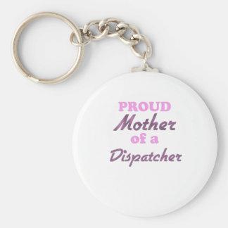 Madre orgullosa de un despachador llaveros personalizados