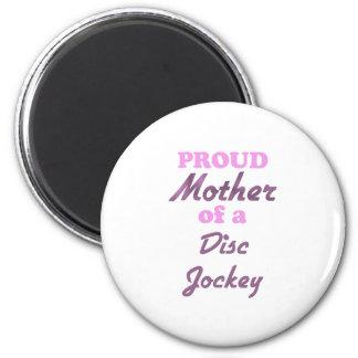 Madre orgullosa de un disc jockey iman de frigorífico