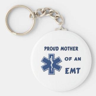 Madre orgullosa de un EMT Llavero Redondo Tipo Pin