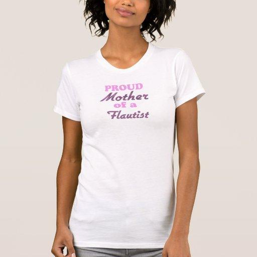 Madre orgullosa de un flautista camisetas