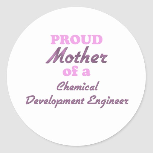 Madre orgullosa de un ingeniero de desarrollo pegatina redonda