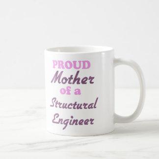 Madre orgullosa de un ingeniero estructural taza básica blanca